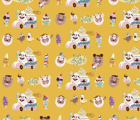 Mr. Ice Cream Man! fabric by yukittenme on Spoonflower - custom fabric