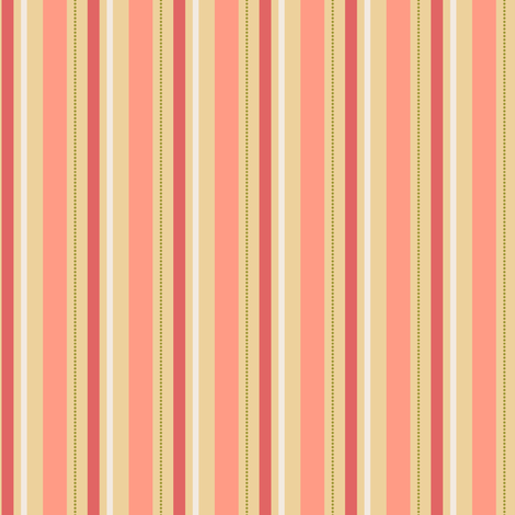Peachy Stripe fabric by countrygarden on Spoonflower - custom fabric