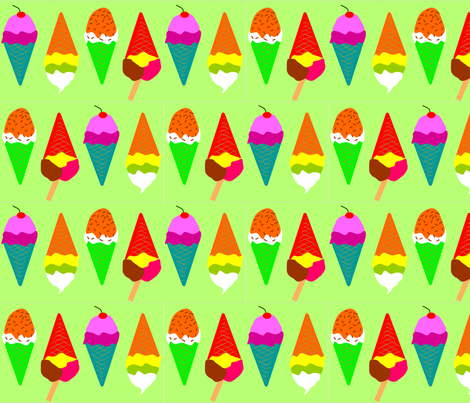 Have an ice cream! fabric by rosapomposa on Spoonflower - custom fabric