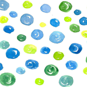 Blue and Green Dots