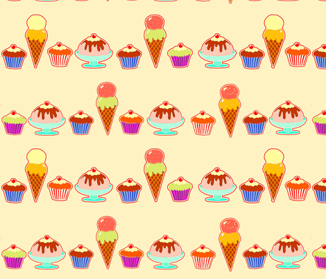 ice_creams fabric by lfntextiles on Spoonflower - custom fabric