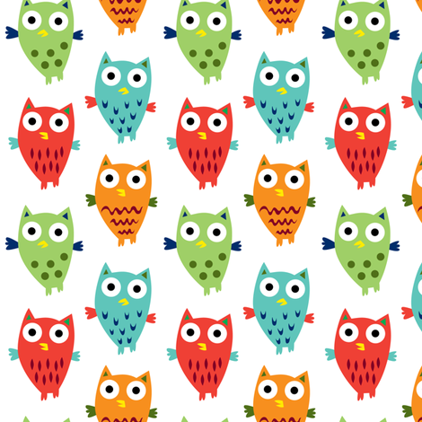 Owl Fun fabric by andibird on Spoonflower - custom fabric