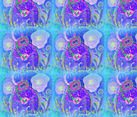 Scuba Diva  Hilda in her JellyFish Garden fabric by jellybeanquilter on Spoonflower - custom fabric