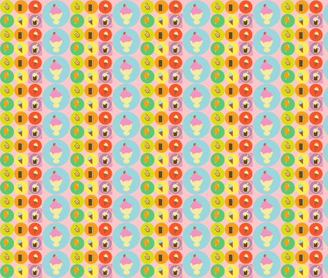 Ice Cream Beaded Stripe fabric by kiwiandsteve on Spoonflower - custom fabric
