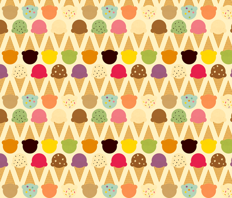 Ice Cream Dream fabric by jenimp on Spoonflower - custom fabric