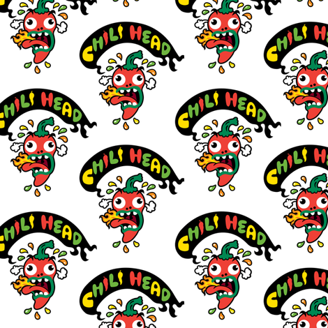 Chili Head fabric by andibird on Spoonflower - custom fabric