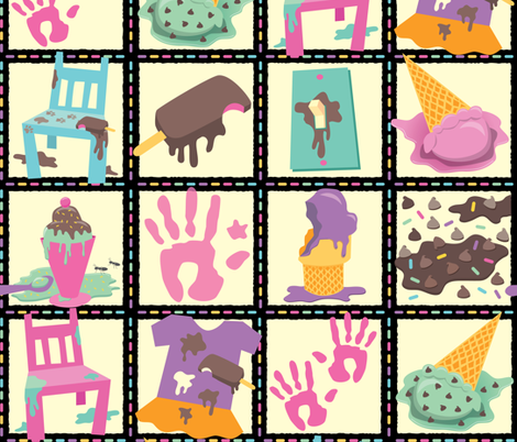 Ice Cream After Toddler fabric by jennartdesigns on Spoonflower - custom fabric