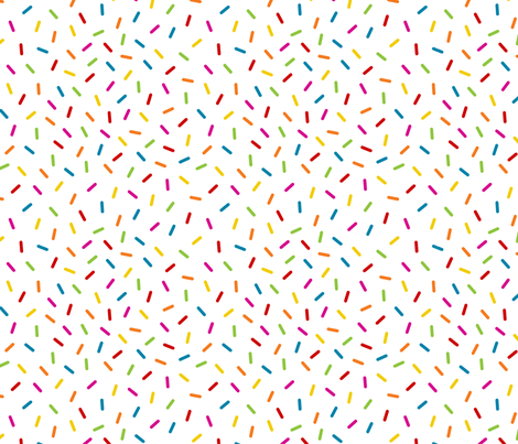 Sprinkles Vanilla fabric by modgeek on Spoonflower - custom fabric