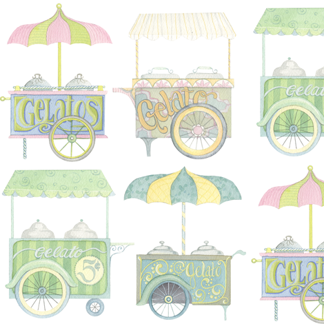Gelato Carts fabric by nicoletamarin on Spoonflower - custom fabric