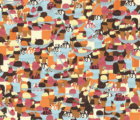 IceCream2011 fabric by nikky on Spoonflower - custom fabric