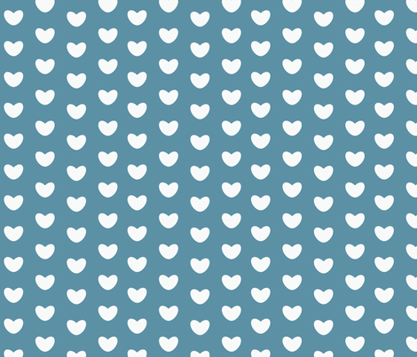 bluehearts fabric by circlesandsticks on Spoonflower - custom fabric
