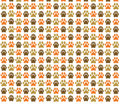 pawprints fabric by circlesandsticks on Spoonflower - custom fabric