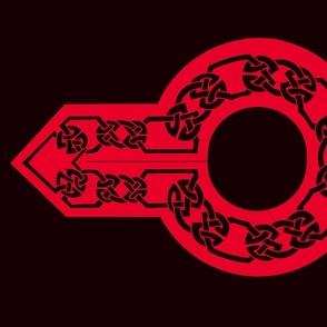 celtic collar 1 black on red