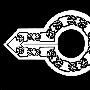 celtic collar 1 black on white