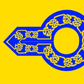 celtic collar 1 gold on blue