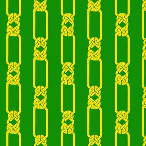 open border-1 gold on green