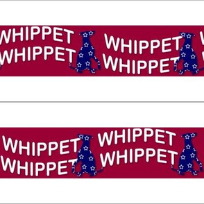 "Collar fabric ""Red Whippet n Blue"""