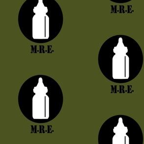 The Infantry - Baby Bottle Design - Olive