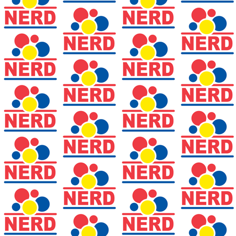 Nerd Bubbles fabric by andibird on Spoonflower - custom fabric