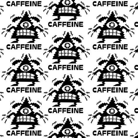 Coffee Caffeine Dog fabric by andibird on Spoonflower - custom fabric