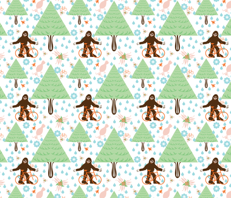 bigfoot fabric by beary_organics on Spoonflower - custom fabric