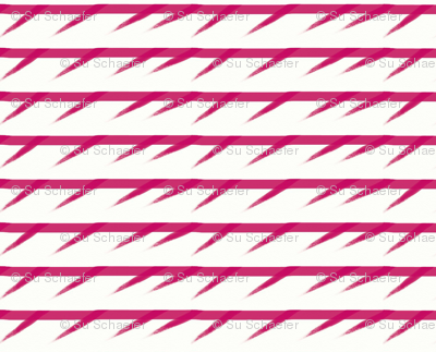 Barbed pink stripes