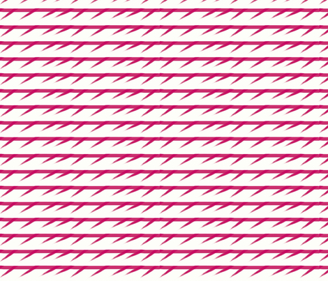 Barbed pink stripes fabric by su_g on Spoonflower - custom fabric