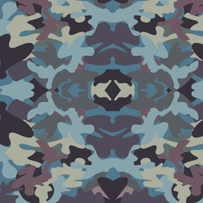 Military Camo Inspired design - Blues