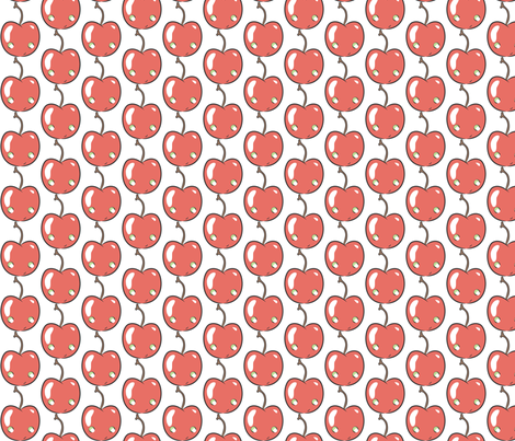 Cherry Vanilla fabric by majobv on Spoonflower - custom fabric
