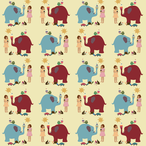 ice cream social  fabric by krihem on Spoonflower - custom fabric