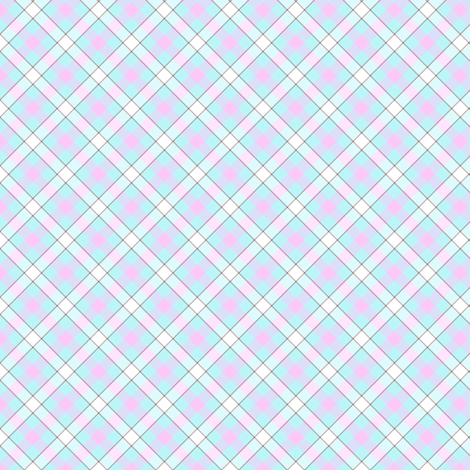Popbi! - Brightbluesky - Multi Tartan Cocoa - © PinkSodaPop 4ComputerHeaven.com  fabric by pinksodapop on Spoonflower - custom fabric