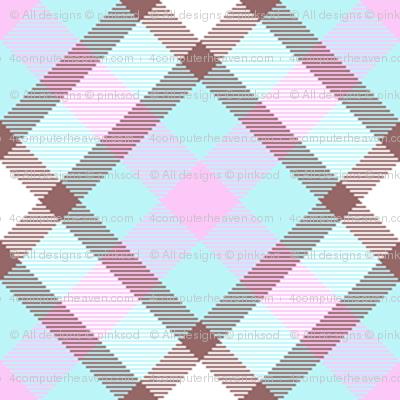 Popbi! - Brightbluesky - Multi Tartan Cocoa Thick - © PinkSodaPop 4ComputerHeaven.com