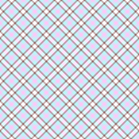 Popbi! - Brightbluesky - Multi Tartan Cocoa Thick - © PinkSodaPop 4ComputerHeaven.com  fabric by pinksodapop on Spoonflower - custom fabric