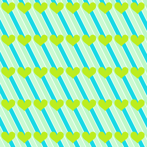 Popbi! - LimeSodaPop - Striped Love - © PinkSodaPop 4ComputerHeaven.com  fabric by pinksodapop on Spoonflower - custom fabric