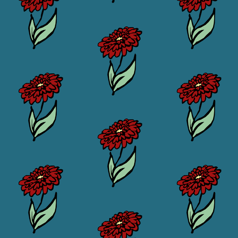 Dahlia   fabric by pond_ripple on Spoonflower - custom fabric