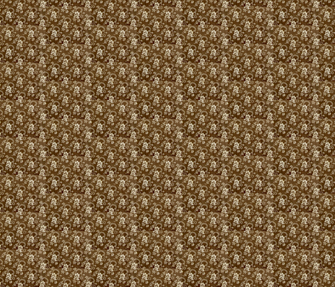 Brown calico fabric by the_cornish_crone on Spoonflower - custom fabric