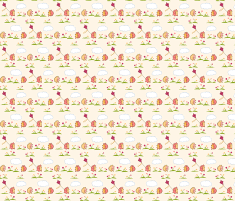 Hedgehog Play Day fabric by mandyd on Spoonflower - custom fabric