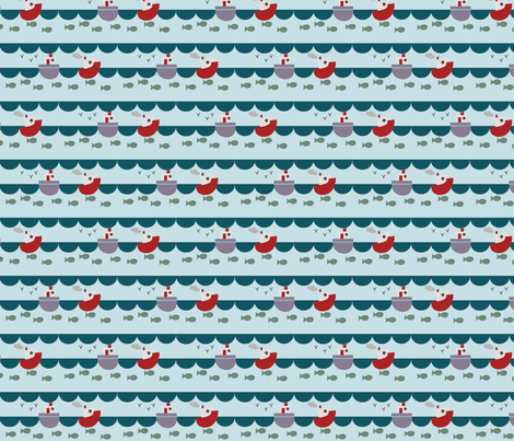 Fishing fabric by phatsheepfabrics on Spoonflower - custom fabric
