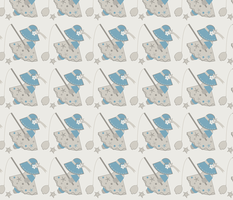 Touch Of Blue Sue I fabric by eppiepeppercorn on Spoonflower - custom fabric