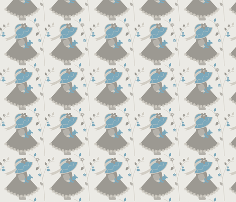 Touch of Blue Sue III fabric by eppiepeppercorn on Spoonflower - custom fabric