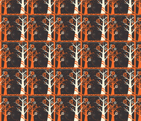 Halloween Candy Forest fabric by eppiepeppercorn on Spoonflower - custom fabric