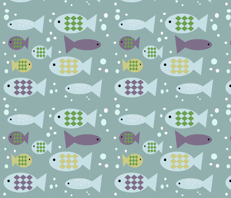 Fishes fabric by phatsheepfabrics on Spoonflower - custom fabric