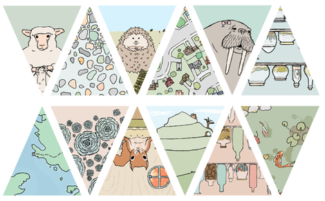 doodle and hoob bunting fabric by doodleandhoob on Spoonflower - custom fabric