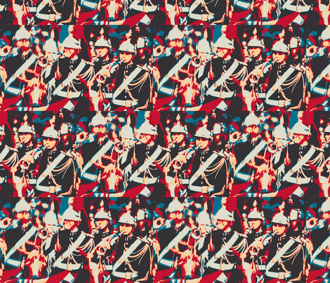Bastille Day, French Soldiers fabric by susaninparis on Spoonflower - custom fabric