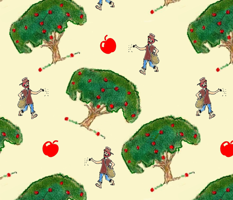 Johnny Appleseed fabric by ccardenuto on Spoonflower - custom fabric