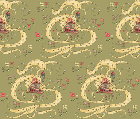Rapunzel fabric by catru on Spoonflower - custom fabric