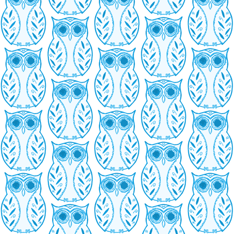 owlie fabric by caresa on Spoonflower - custom fabric