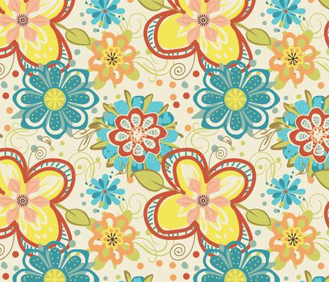 Big ole flowers fabric by beary_organics on Spoonflower - custom fabric