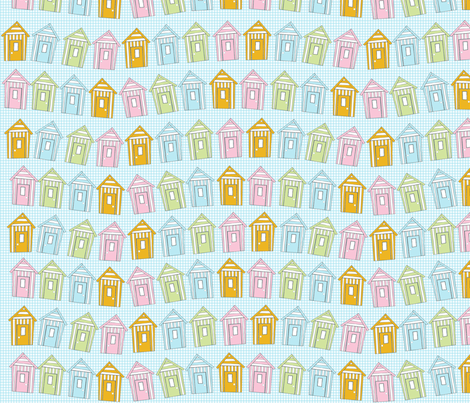 beach_hut fabric by jojoebi_designs on Spoonflower - custom fabric