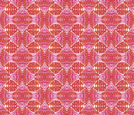 Patterned mustard and pink stripes fabric by su_g on Spoonflower - custom fabric